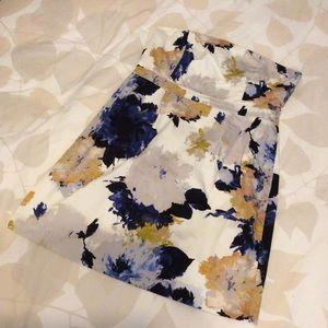 Sweet J. Crew Ivory Floral Dress, Size 10/12